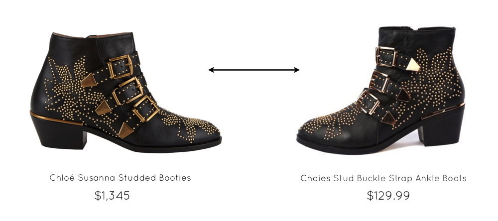studded booties chloe susanna the look for less glitter inc glitter inc. Black Bedroom Furniture Sets. Home Design Ideas
