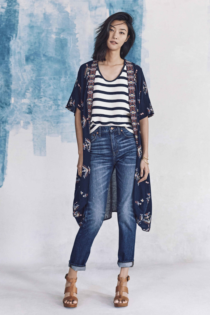 Madewell just released their spring 2016 collection, and trust me, you are going to be clamoring for every single piece. It's just so wearable. - Madewell Spring 2016 Lookbook - Denim and Kimono and Stripes