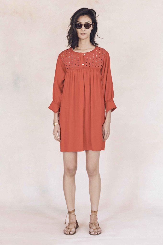 Madewell just released their spring 2016 collection, and trust me, you are going to be clamoring for every single piece. It's just so wearable. - Madewell Spring 2016 Lookbook - Orange Smock Dress