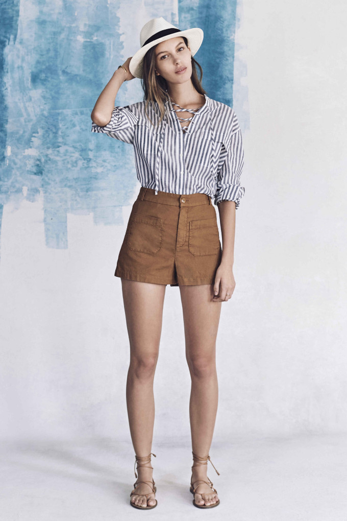 Madewell just released their spring 2016 collection, and trust me, you are going to be clamoring for every single piece. It's just so wearable. - Madewell Spring 2016 Lookbook - Shorts and Stripes