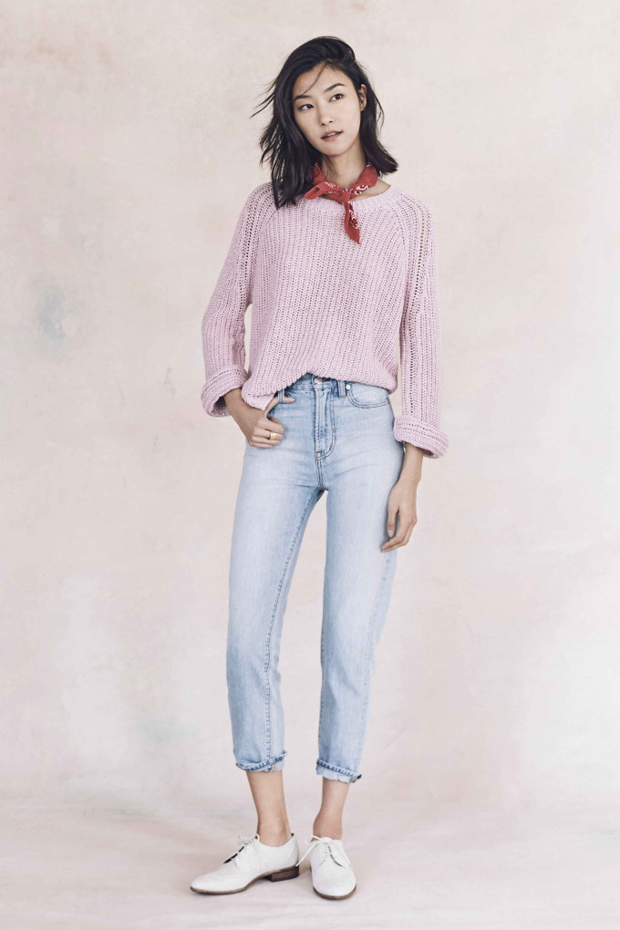 Madewell just released their spring 2016 collection, and trust me, you are going to be clamoring for every single piece. It's just so wearable. - Madewell Spring 2016 Lookbook - Sweater and Jeans