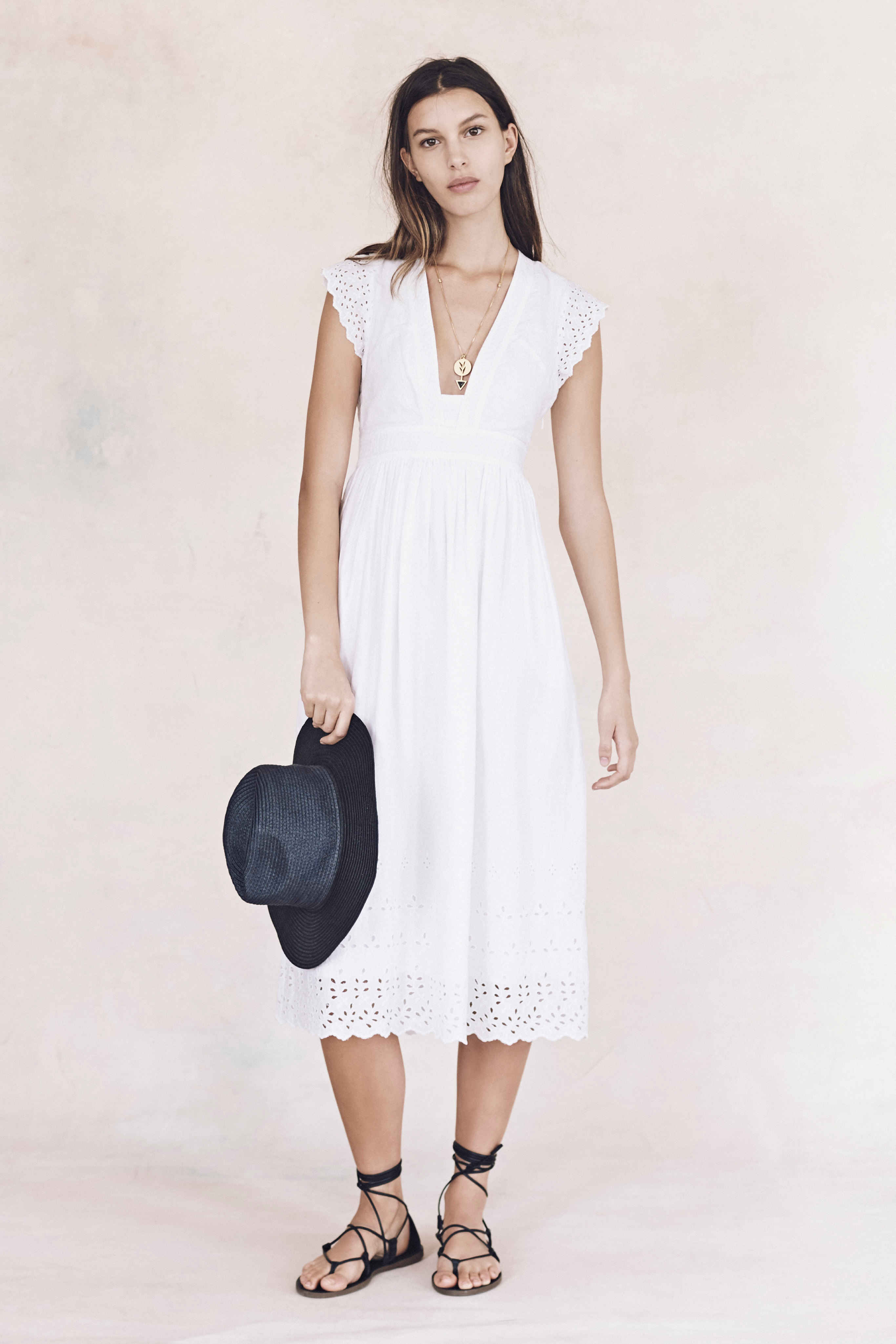 Madewell just released their spring 2016 collection, and trust me, you are going to be clamoring for every single piece. It's just so wearable. - Madewell Spring 2016 Lookbook - white Lace dress