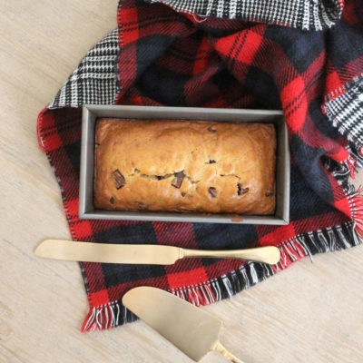 Vegan Chocolate Chunk Banana Bread - tender, moist, and totally delicious! (You'd never know it was missing butter and eggs.)