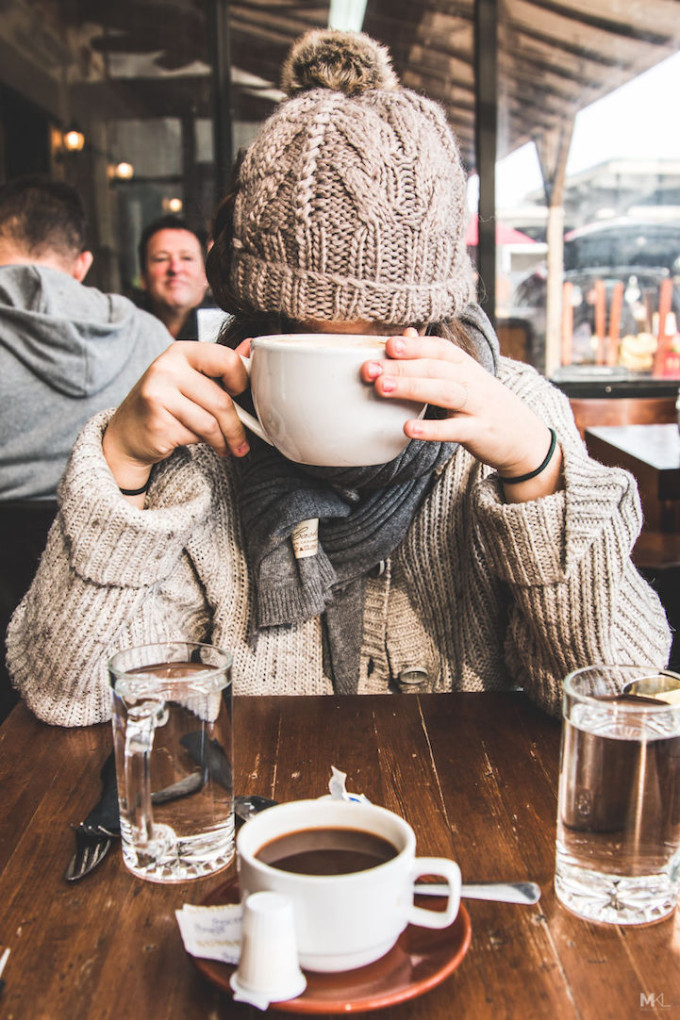 On Being Camera-Shy (and an Adorable Way to Remedy It) - camera shy girlfriend - coffee - mikael theimer