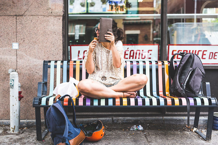 On Being Camera-Shy (and an Adorable Way to Remedy It) - camera shy girlfriend - sidewalk - mikael theimer