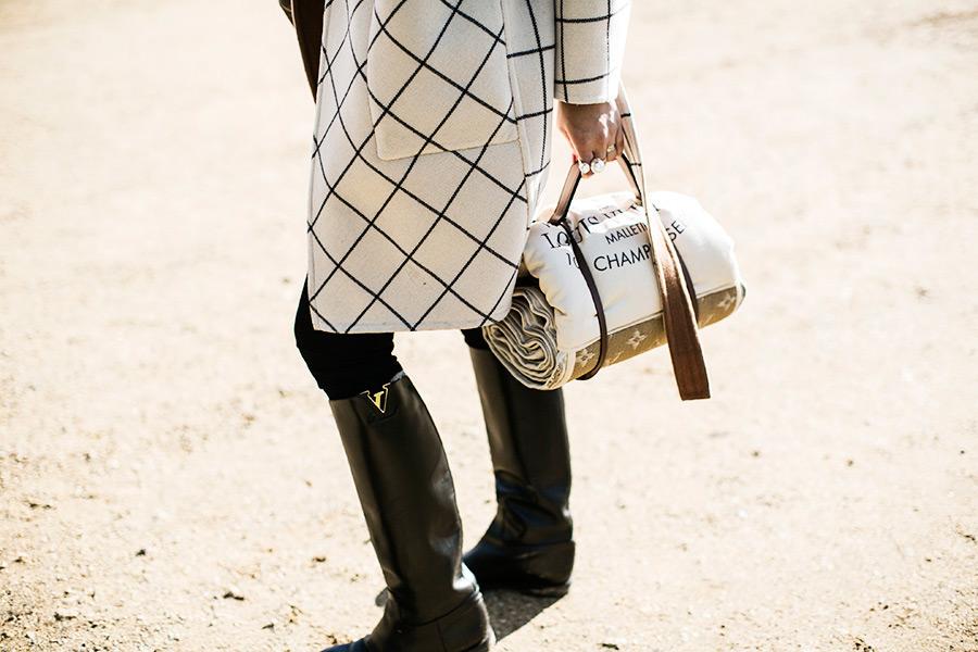 Louis Vuitton - Check Coat - Travel