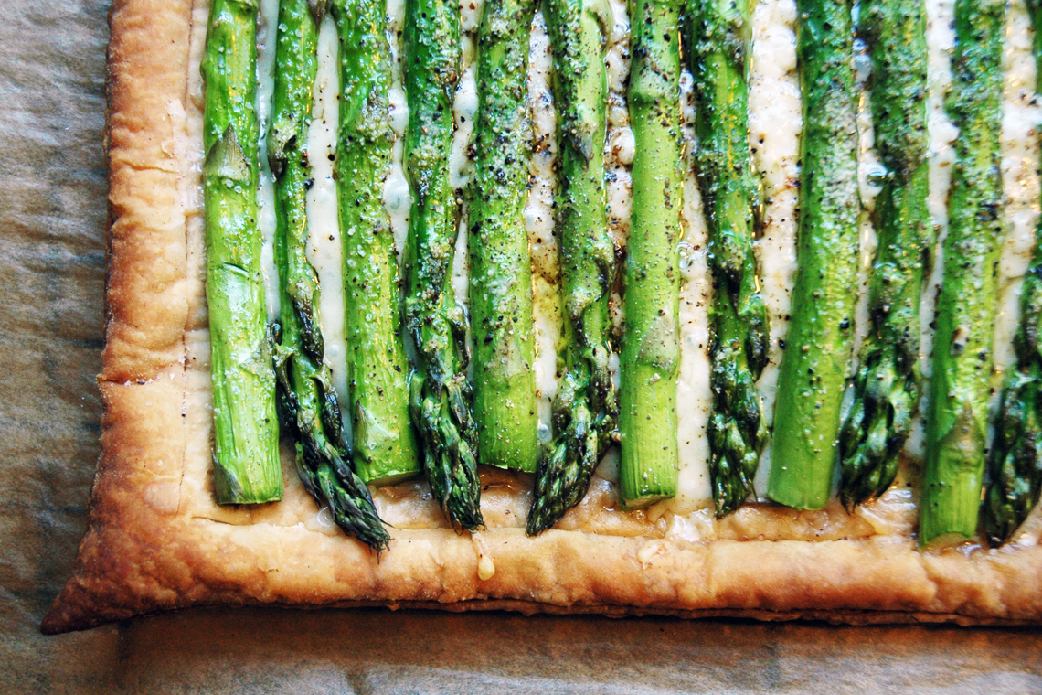Asparagus Gruyere Tart via Bite This
