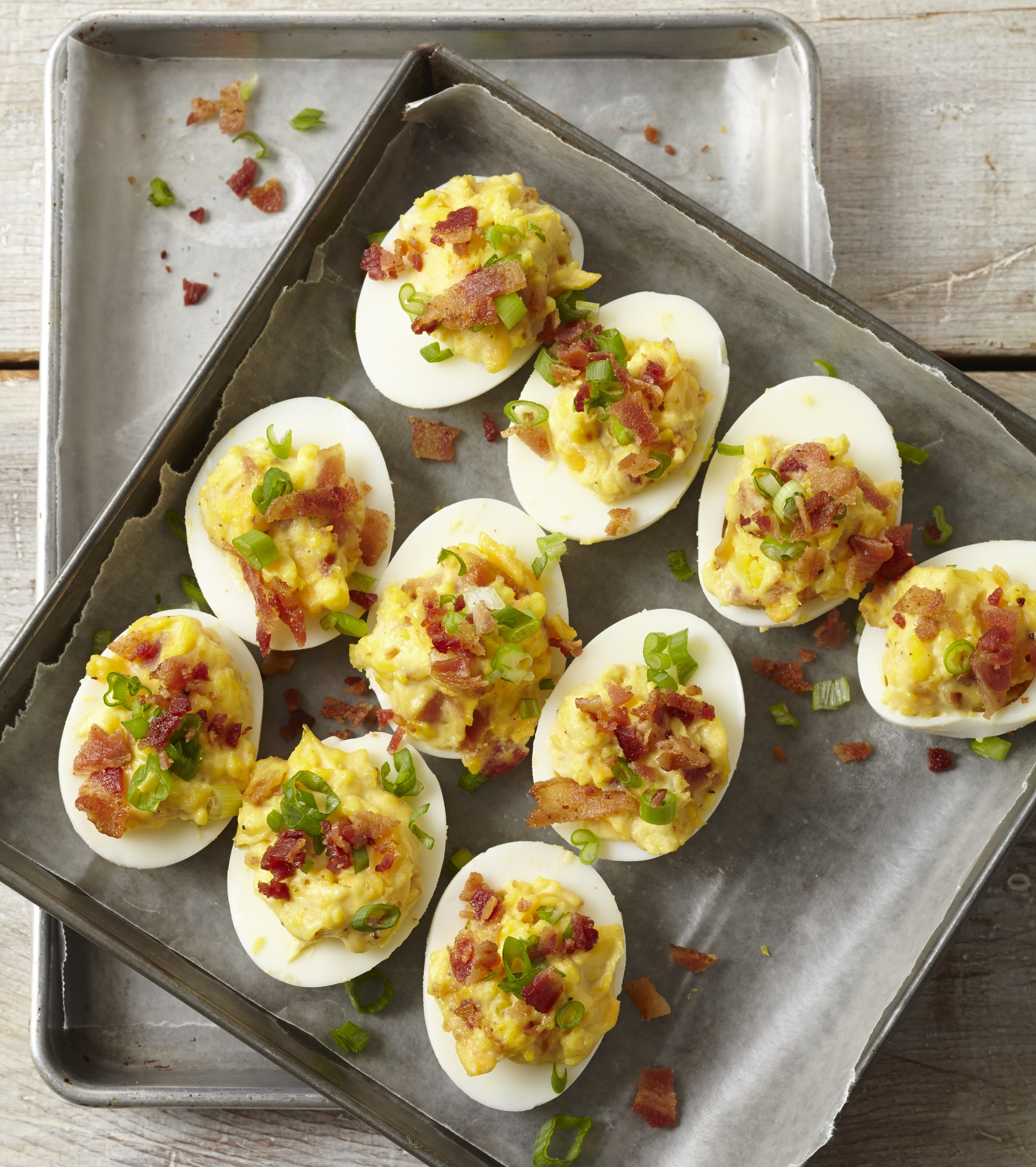 21 Favorite Brunch Recipes (Perfect for Easter!): Bacon Topped Deviled Eggs