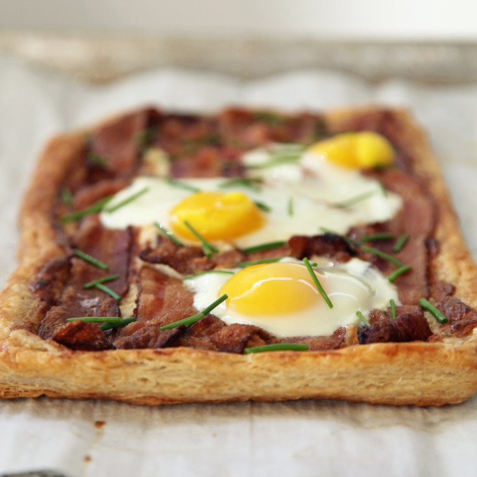 20 Favorite Egg Recipes / Ways to Eat Eggs (for Breakfast, Lunch and Dinner) - Baked Bacon and Egg Tart