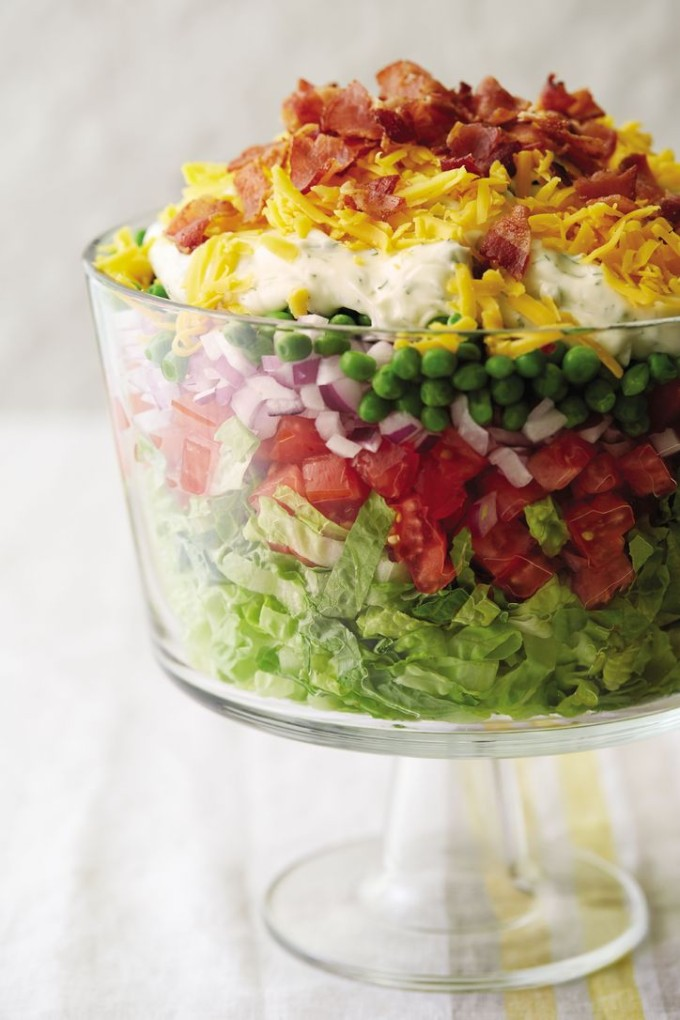 21 Favorite Brunch Recipes (Perfect for Easter!): Classic Layered Salad