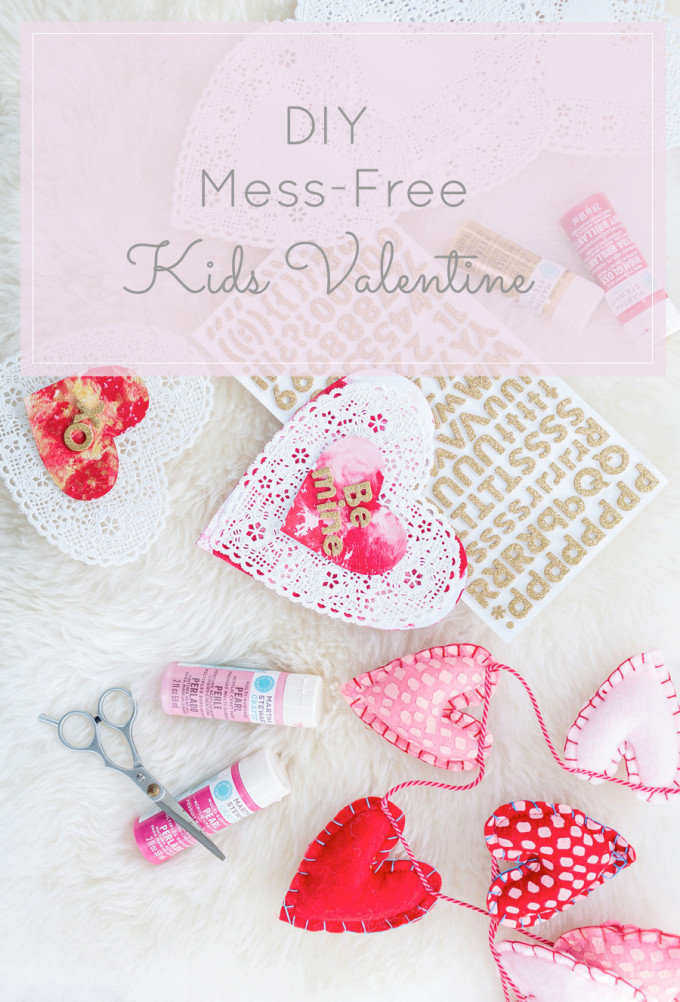 DIY Painted Valentine's Day Cards