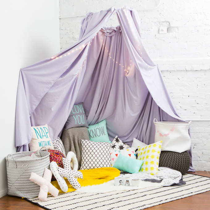 12 Inexpensive Valentine's Day Date Night Ideas (From the Comfort of Your Sofa): Grown-up Fort Teepee for Valentine's Day