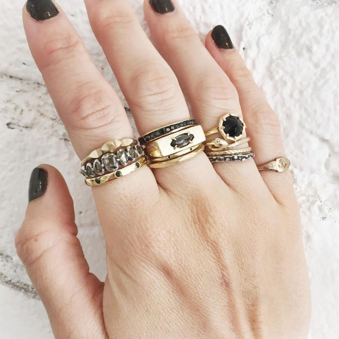 Cool Spotting: Layering Stacks of Chunky Rings - Lauren Wolf Rings