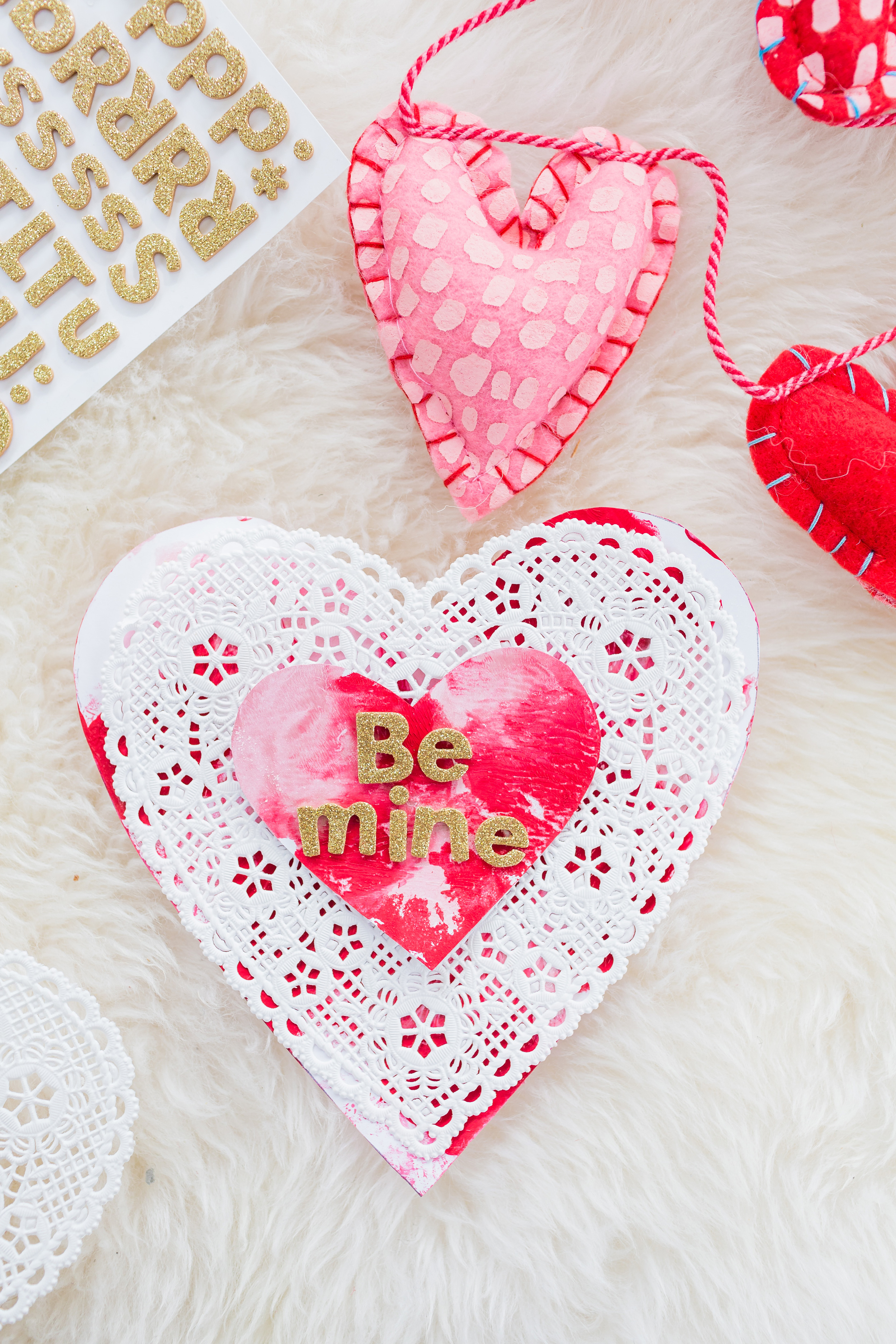Toddler Friendly And Mess Free Diy Painted Valentine S Day Cards