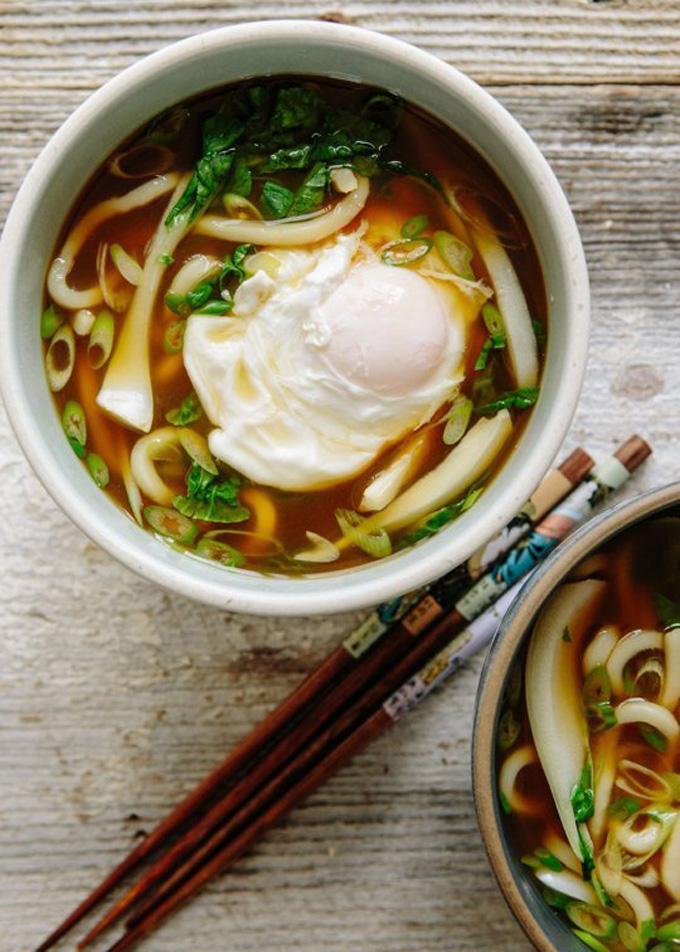 20 Favorite Egg Recipes / Ways to Eat Eggs (for Breakfast, Lunch and Dinner) - Udon Soup with Bok Choy and Poached Egg