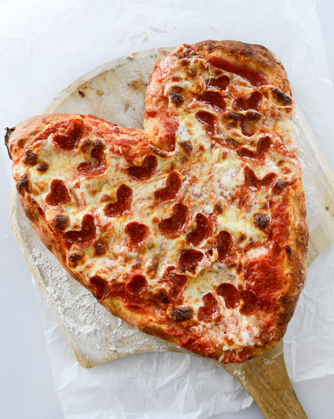 12 Inexpensive Valentine's Day Date Night Ideas (From the Comfort of Your Sofa): Valentine's Day Heart Pizza