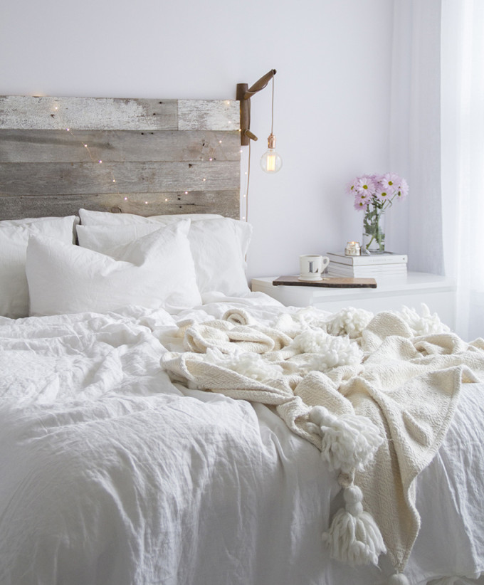 White on White Cozy Rustic Bedroom
