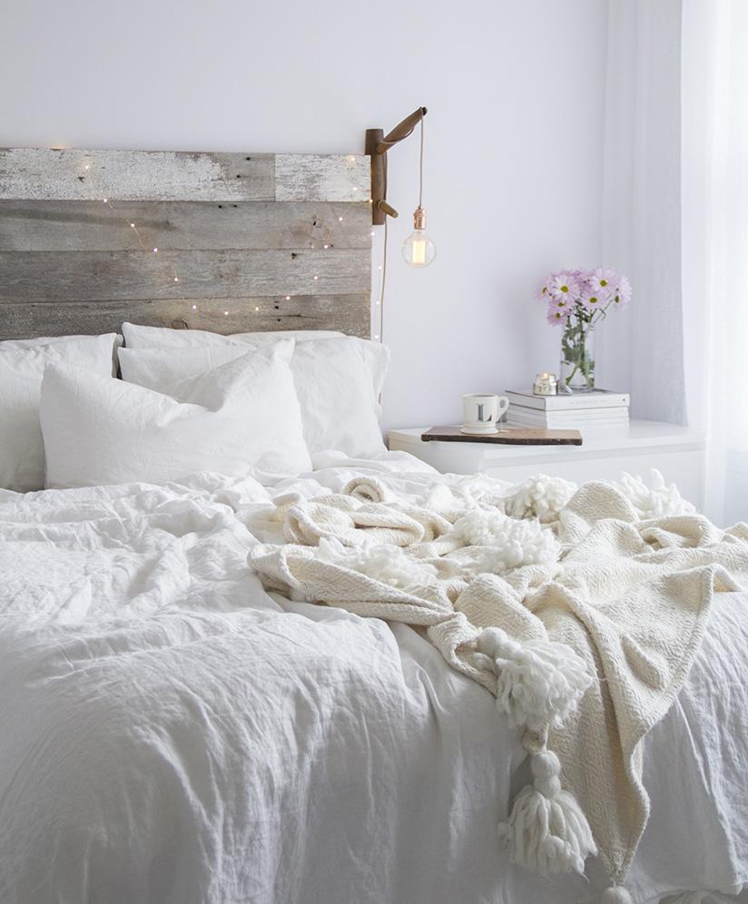 White on White Cozy Rustic Bedroom