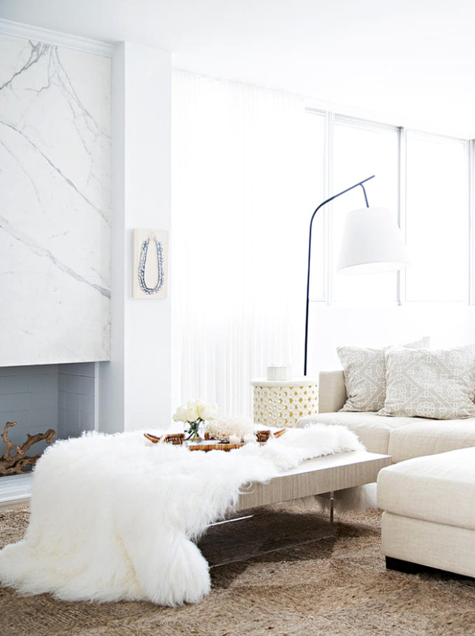A mostly white Morocco-inspired home (you're going to love!) and how to get the look. - living room