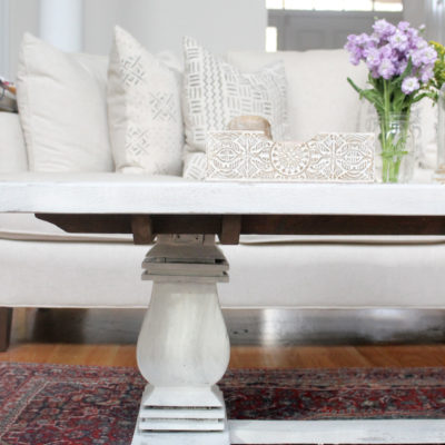 How to Distress A Shabby Chic Coffee Table (the Easy Way!)