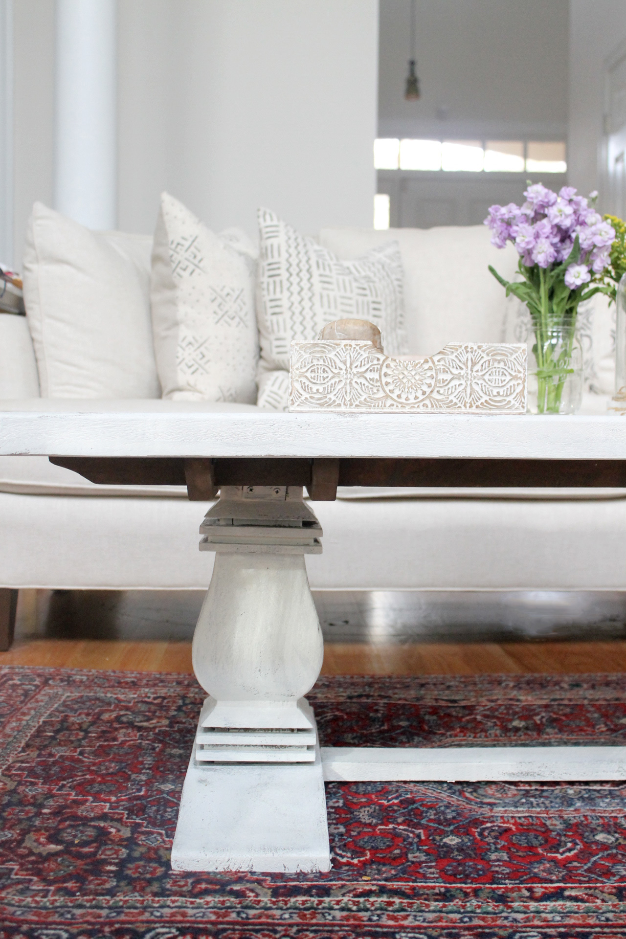 How to Distress A Shabby Chic Coffee Table (the Easy Way!) by NC blogger Glitter, Inc.