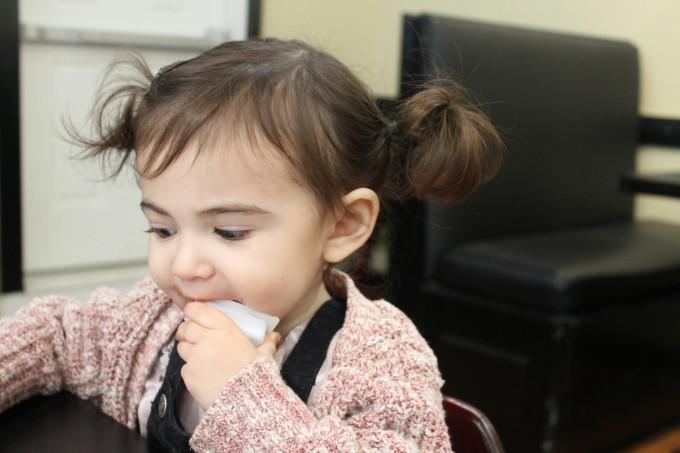 Scarlett Eating Jelly