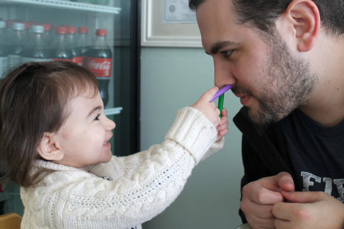 Breakfast with her Daddy