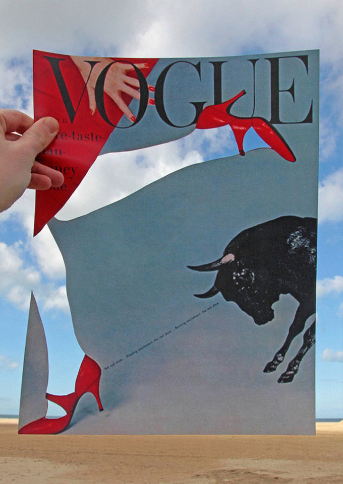 Vintage Vogue Cover Natural Landscapes