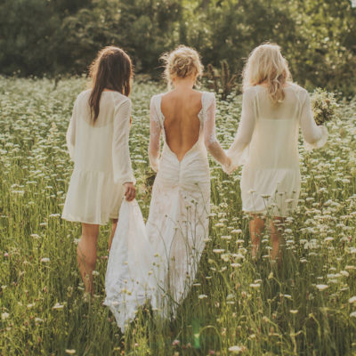 Wedding Style: Drop-waist Bridesmaids Dresses