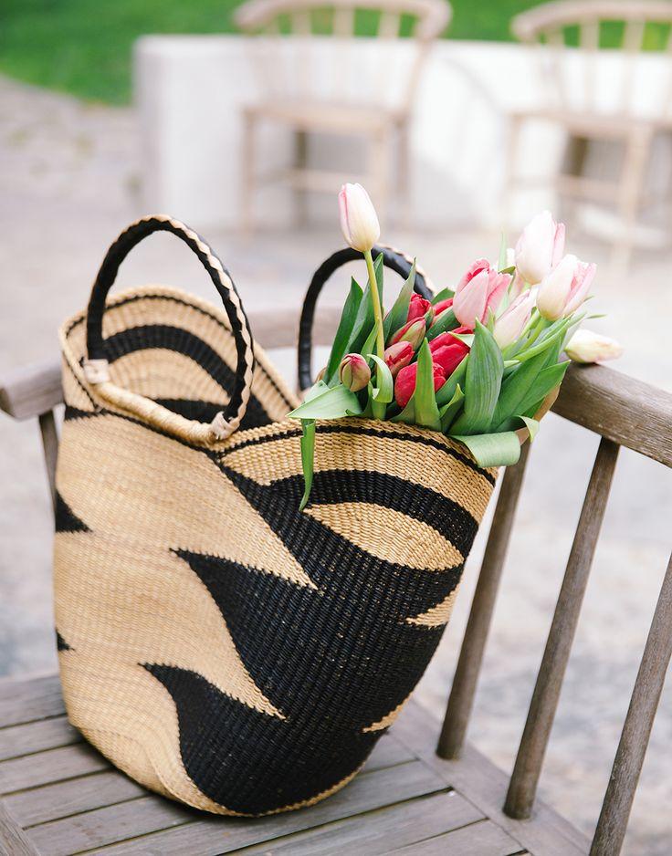 15 Favorite French Market Baskets, like this Bohemian Market Basket