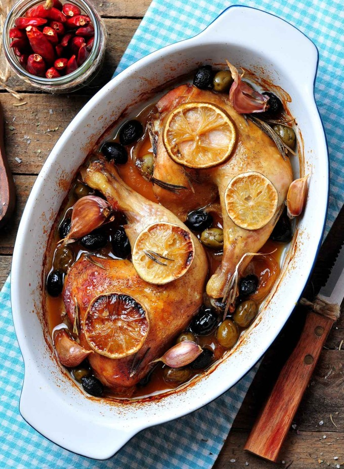 Chicken with Prunes, Apricots, and Olives (+ 15 Favorite Passover Seder Meal Recipes - These are all so yummy whether you're making your own Seder dinner or bringing a dish for a party!)
