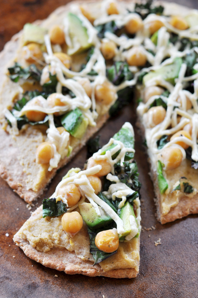 Pita Pizza with Greens