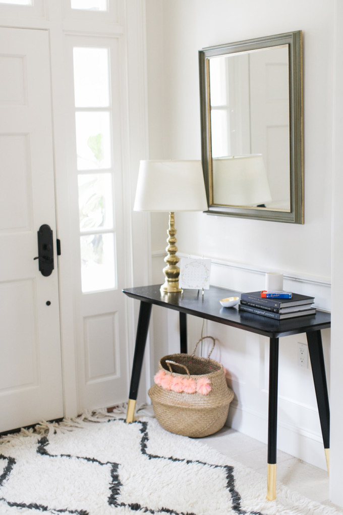 DIY Ikea Hack Entry Table and Pom Pom Basket