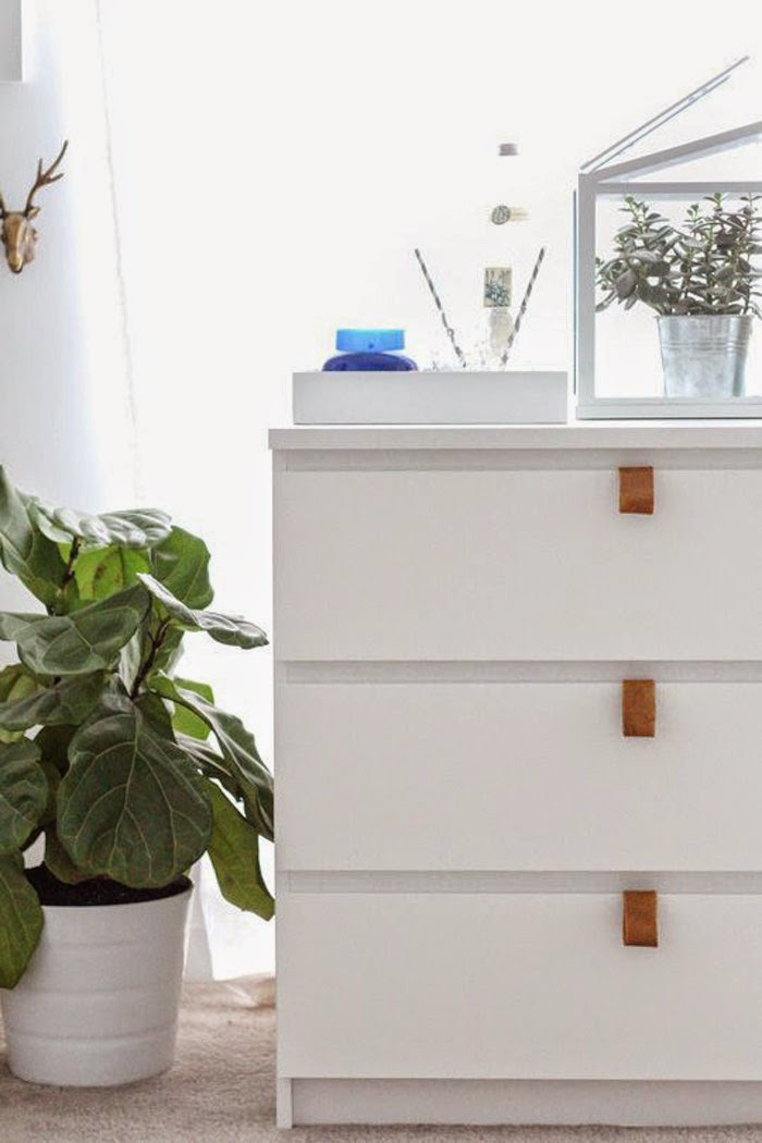 DIY Ikea Leather Drawer Pulls Hack