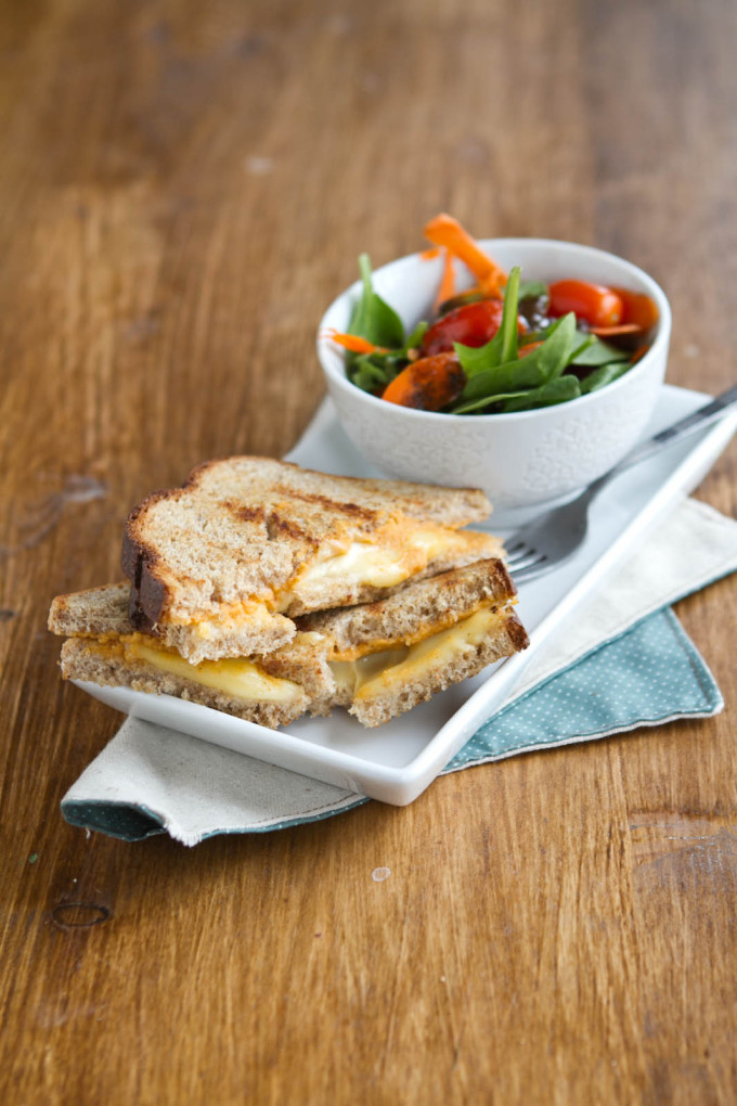 Hummus Grilled Cheese Sandwich - 20 Amazing Ways to Eat Hummus (that will become instant favorites in your house!) Snuck into sandwiches, a substitute pizza sauce, a base for salad dressing, in soups, chocolate hummus, and even cooked right into pancakes; after scrolling through these recipes you'll be craving hummus like none other. Click through for the recipes.
