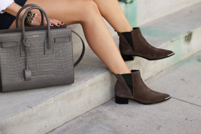 The must-have Marc Fisher Yale Chelsea Booties and that Saint Laurent Bag! #swoon