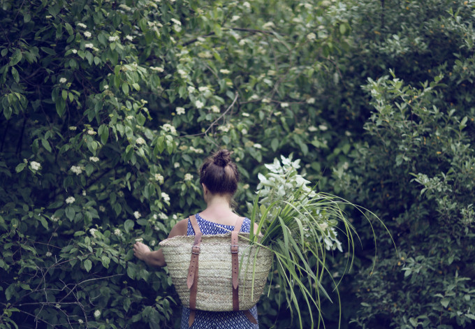15 Favorite French Market Baskets, like this Market Basket Backpack via Kinfolk