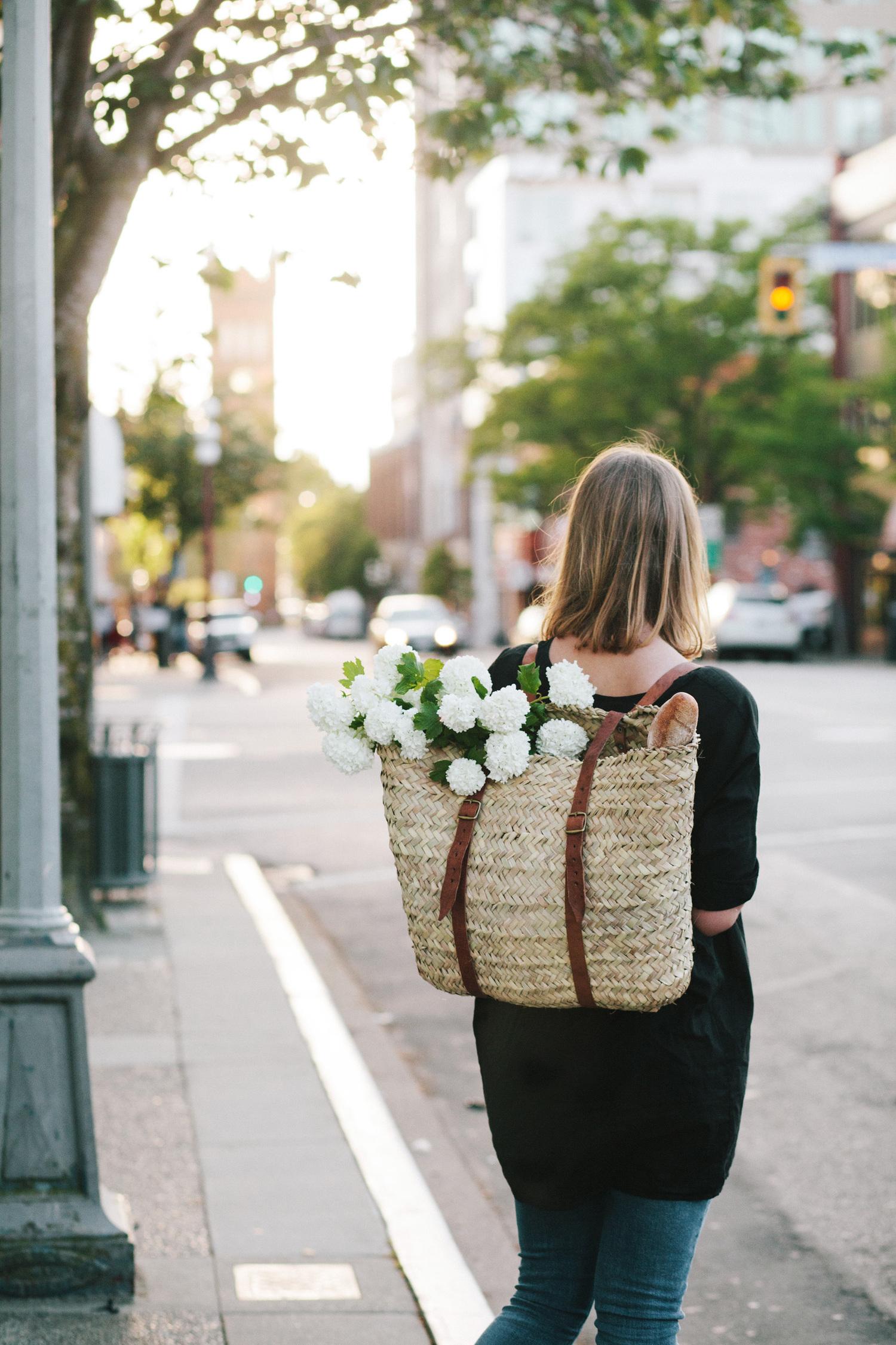 15 Favorite French Market Baskets, like this Market Basket Backpack