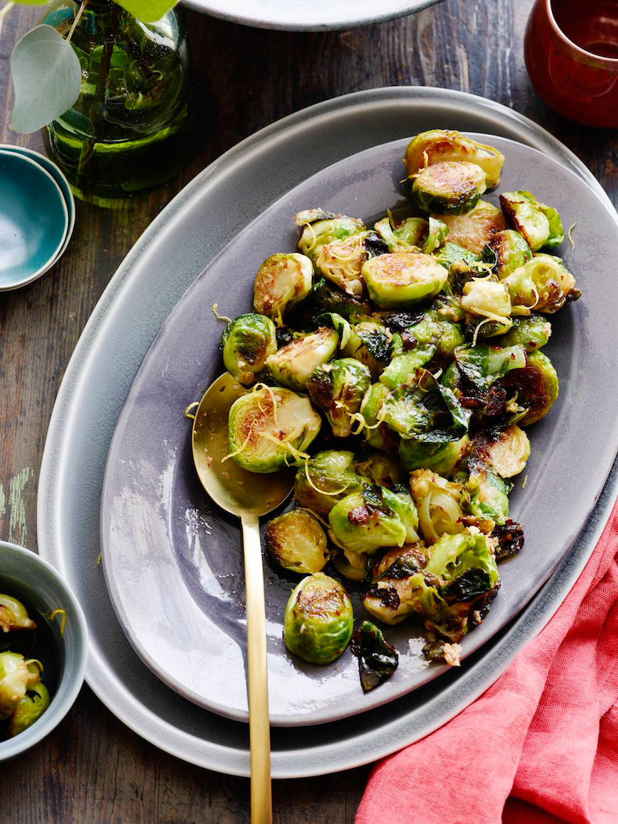 Sautéed Brussels Sprouts with Lemon Garlic Butter
