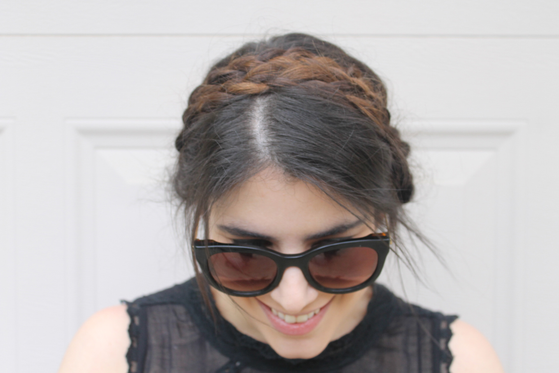How to Get the Festival Back-to-Nature Beauty Look - Double-Braided Hair and Sunglasses