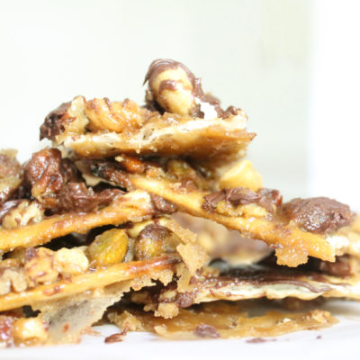 Zabar's Famous Candied Caramel Nut and Chocolate Matzoh Brittle (a.k.a., Matzoh Crack)