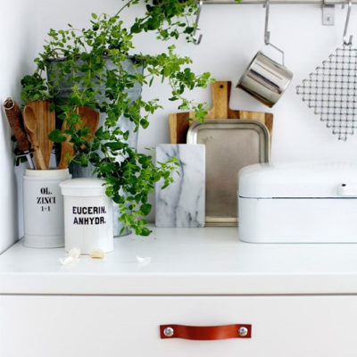 Design Dreaming: Leather Cabinet and Drawer Pulls