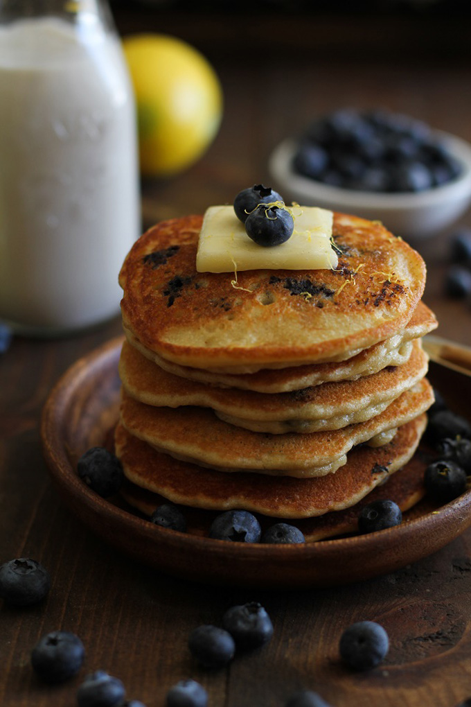 Gluten-Free Lemon Blueberry Hummus Protein Pancakes - 20 Amazing Ways to Eat Hummus (that will become instant favorites in your house!) Snuck into sandwiches, a substitute pizza sauce, a base for salad dressing, in soups, chocolate hummus, and even cooked right into pancakes; after scrolling through these recipes you'll be craving hummus like none other. Click through for the recipes.