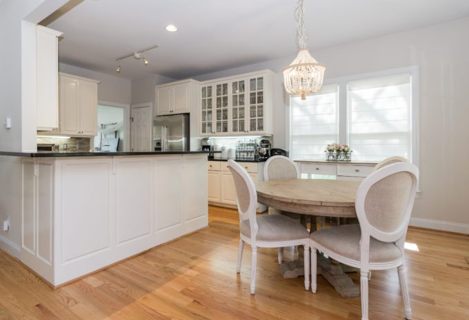 White Kitchen and Breakfast Room