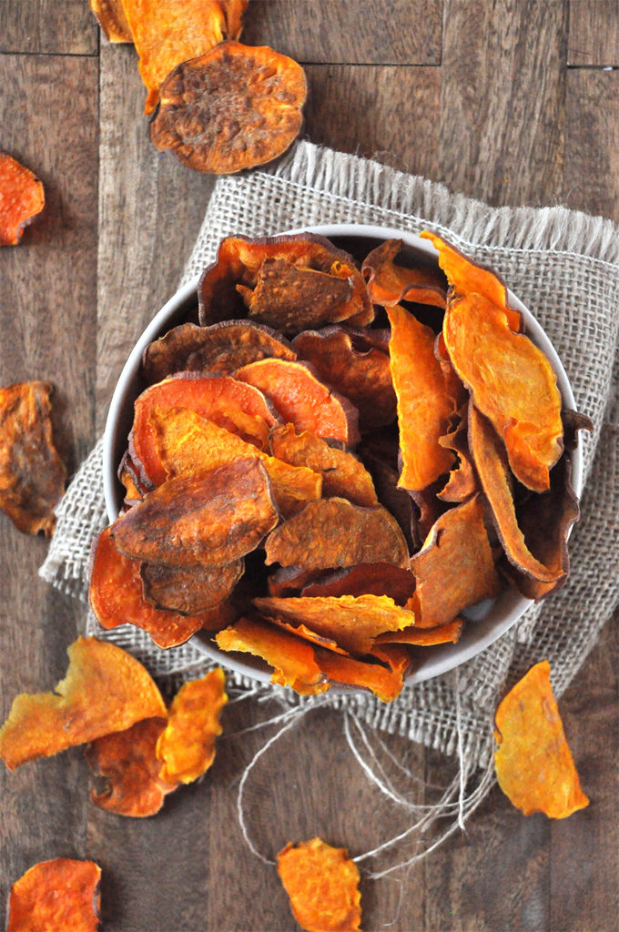 Baked Sweet Potato Chips (Perfect as a side for Memorial Day Weekend, the 4th of July, or really any weeknight or weekend you want to grill this Summer!)