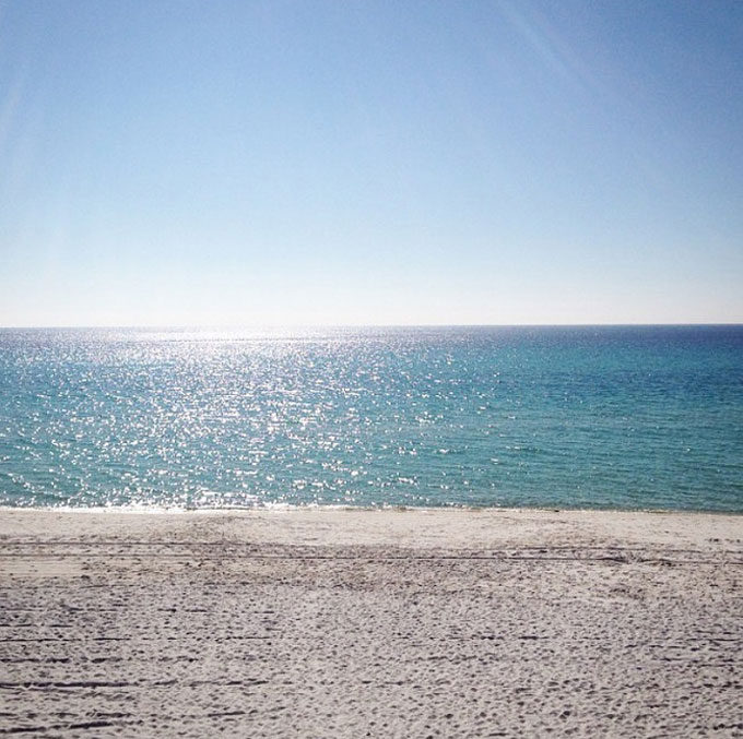 Beach.-Early-morning-on-the-beach.-Old-Seagrove-Homes.