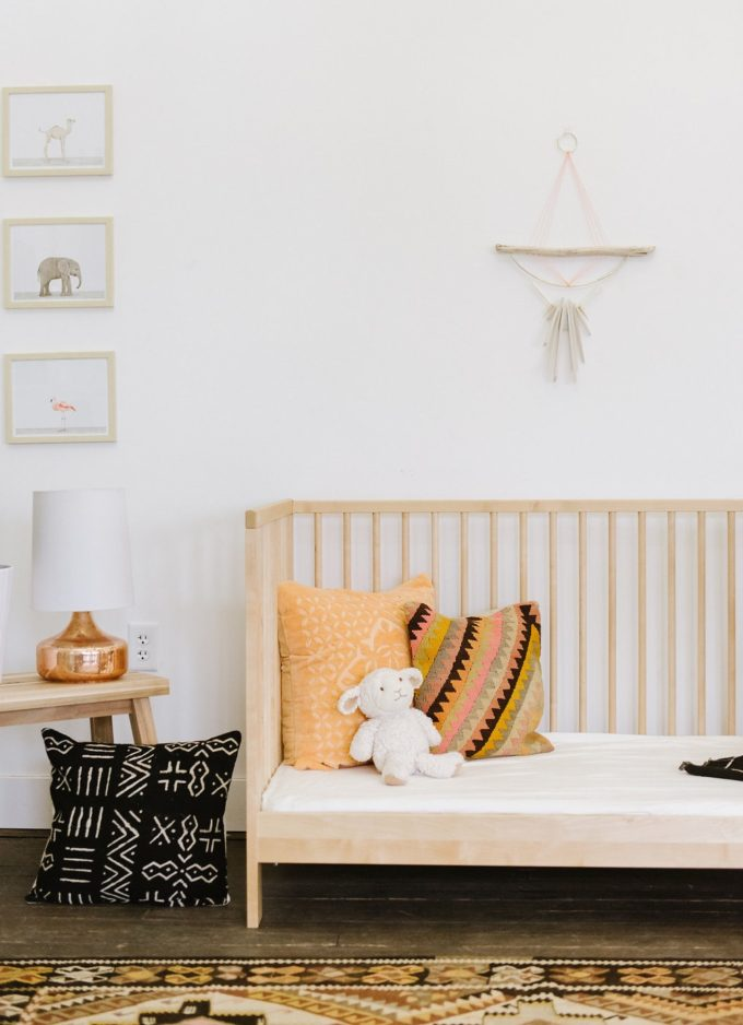Your New Favorite Bohemian Home Décor Site: Loom + Kiln (Bohemian Nursery with Wall Hanging)