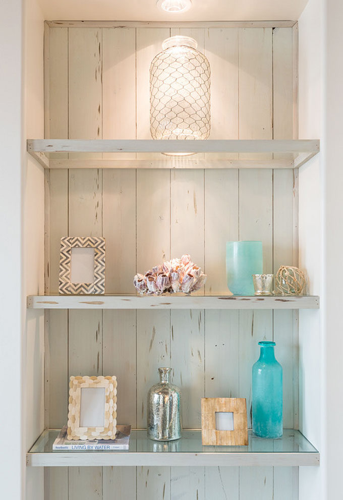 The Dreamiest Coastal Home in Seagrove Beach - Bookcase Decor Ideas