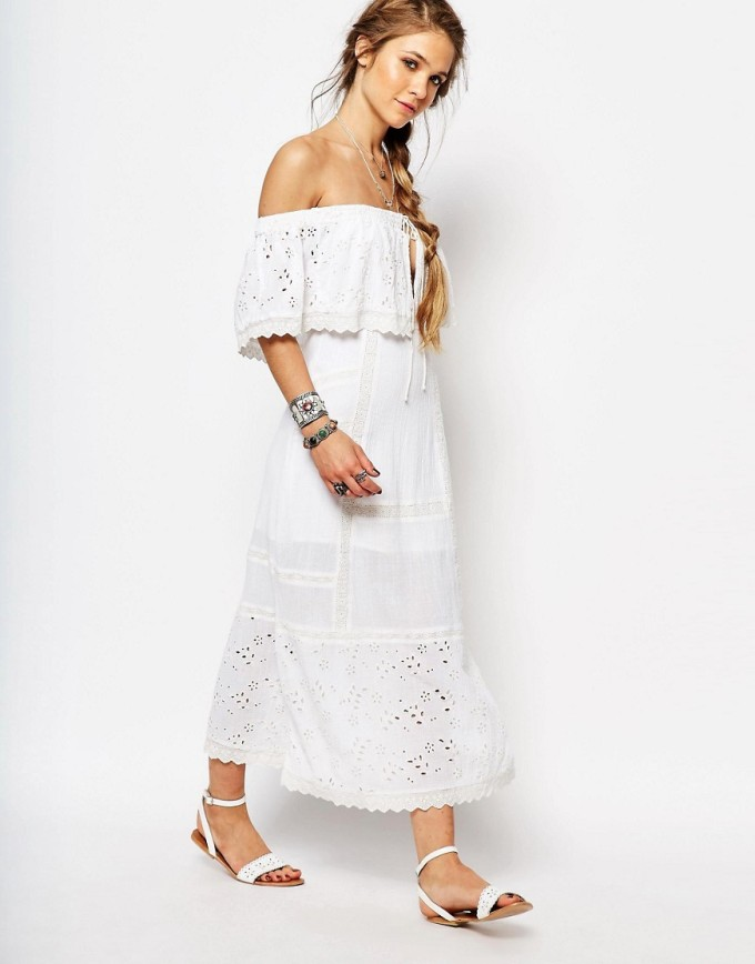 8 Unique Off-the-Shoulder Dresses, including this Free People Most Beautiful Midi Dress