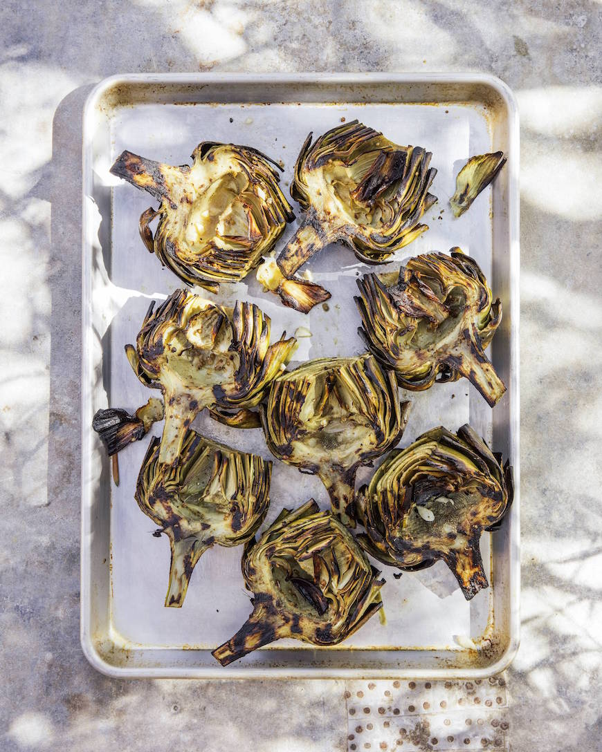 Grilled Artichokes (Perfect for Memorial Day Weekend, the 4th of July, or really any weeknight or weekend you want to grill something healthy this Summer!)